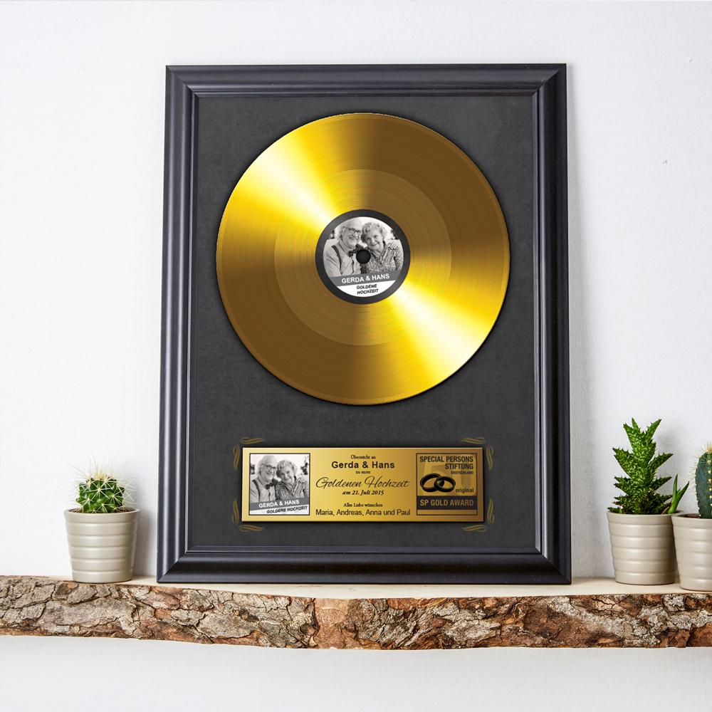 Goldene Schallplatte zur goldenen Hochzeit