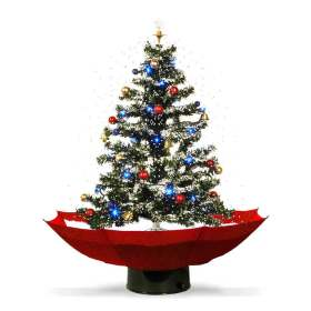 Weihnachtsbaum mit Kunstschnee und Sound