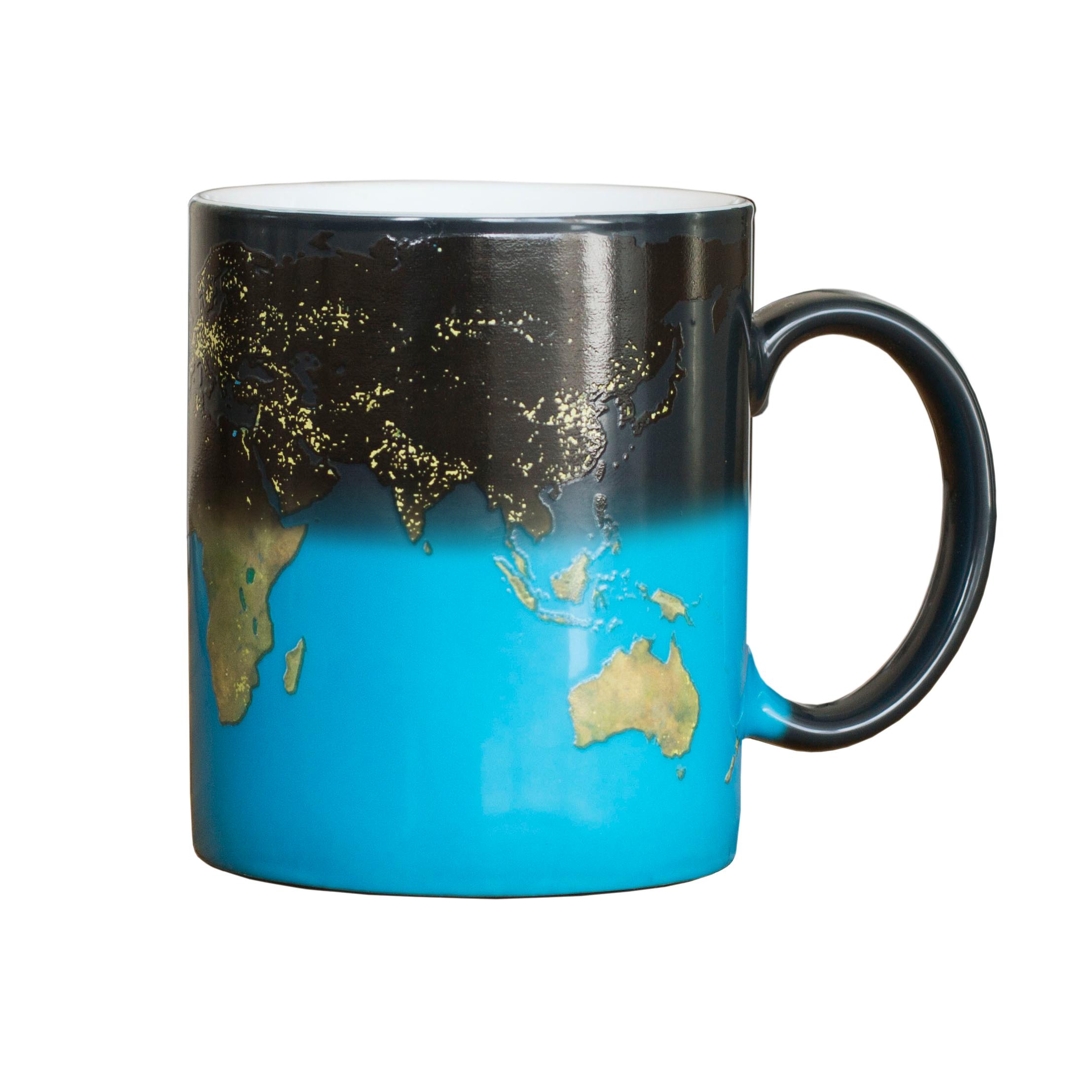 Farbwechsel Tasse - Weltkarte