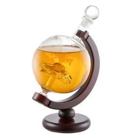 Whiskykaraffe - Globus mit Auto - Glasdekanter