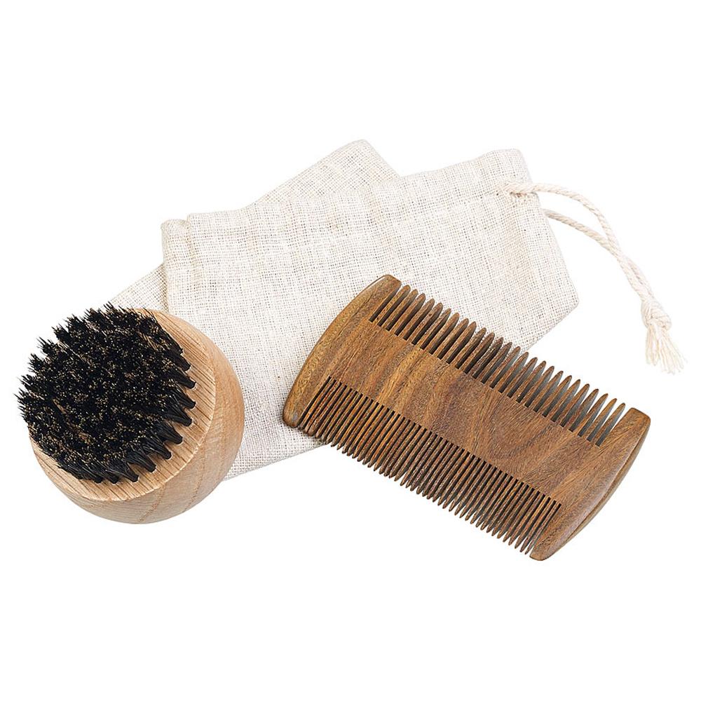 Set für die Bartpflege - Holz