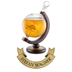 Whiskykaraffe - Globus Auto - Namensplakette