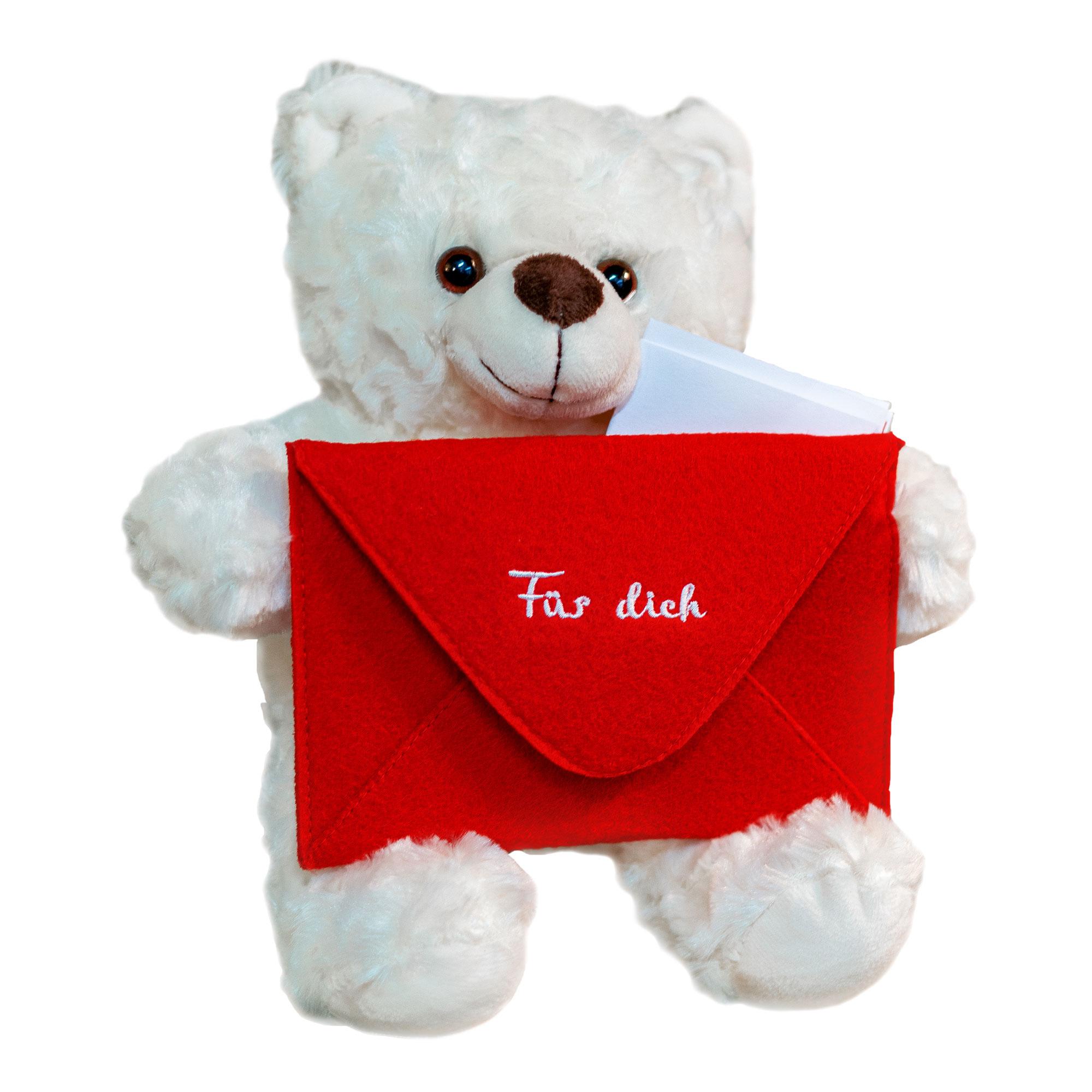 Teddybär Bote - roter Briefumschlag
