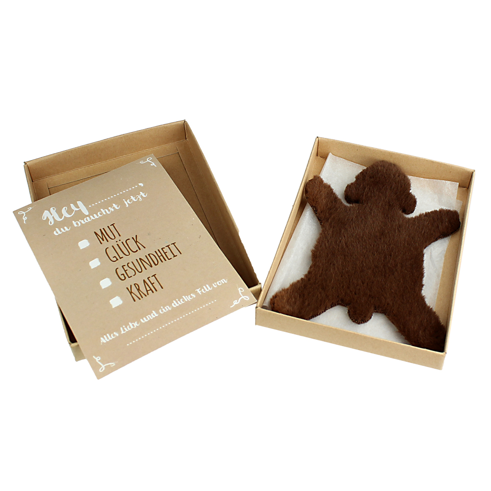 Dickes Fell - Braunbär - mit Geschenkbox