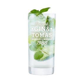 Ginglas mit Gravur - Gin und - Londrinkglas