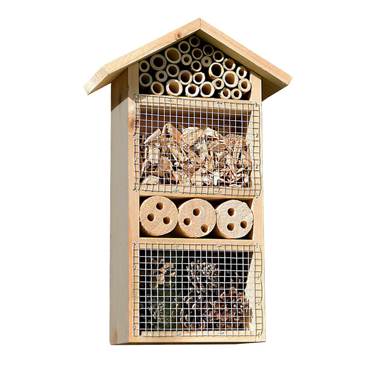 Insektenhaus mit Schutz vor Vögeln