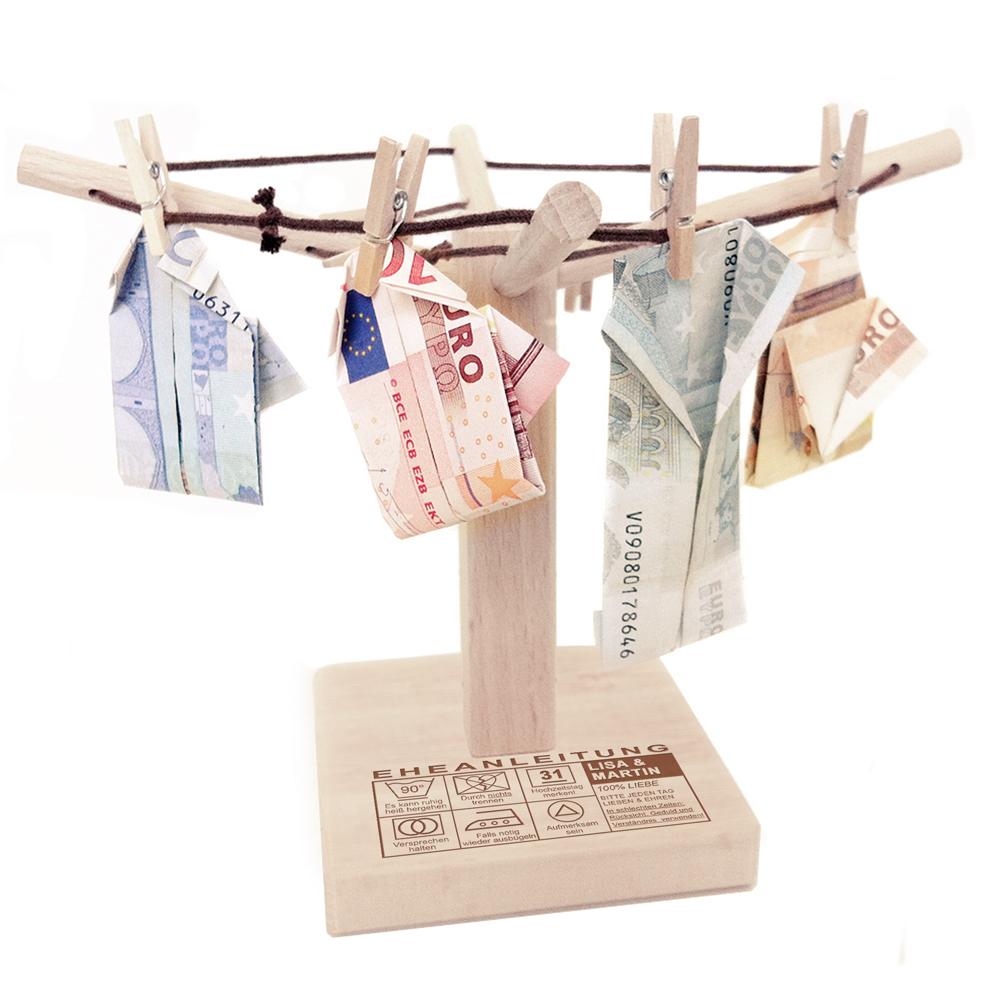 Geldwäschespinne zur Hochzeit - Eheanleitung - Personalisiert