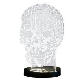 LED Lampe Totenkopf mit 3D Effekt