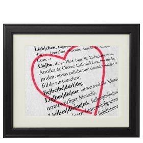 Bild im Holzrahmen - Definition Liebe - Personalisiert mit Namen