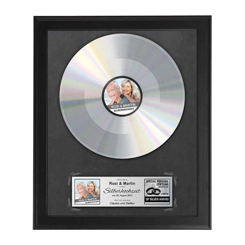 Silberne Schallplatte zur Silberhochzeit