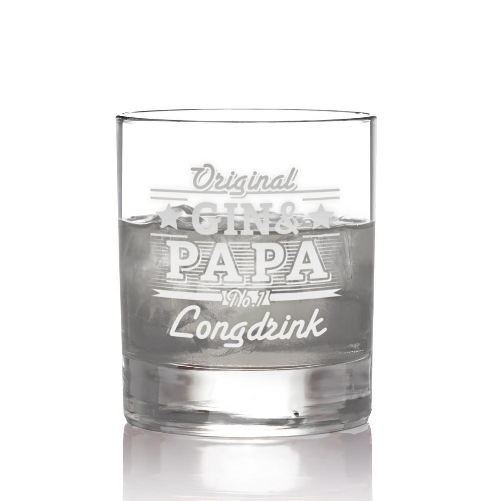 Ginglas für Papa - Gin und - Tumbler Glas