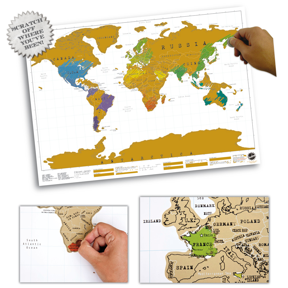 Rubbel Weltkarte - World Scratch Map