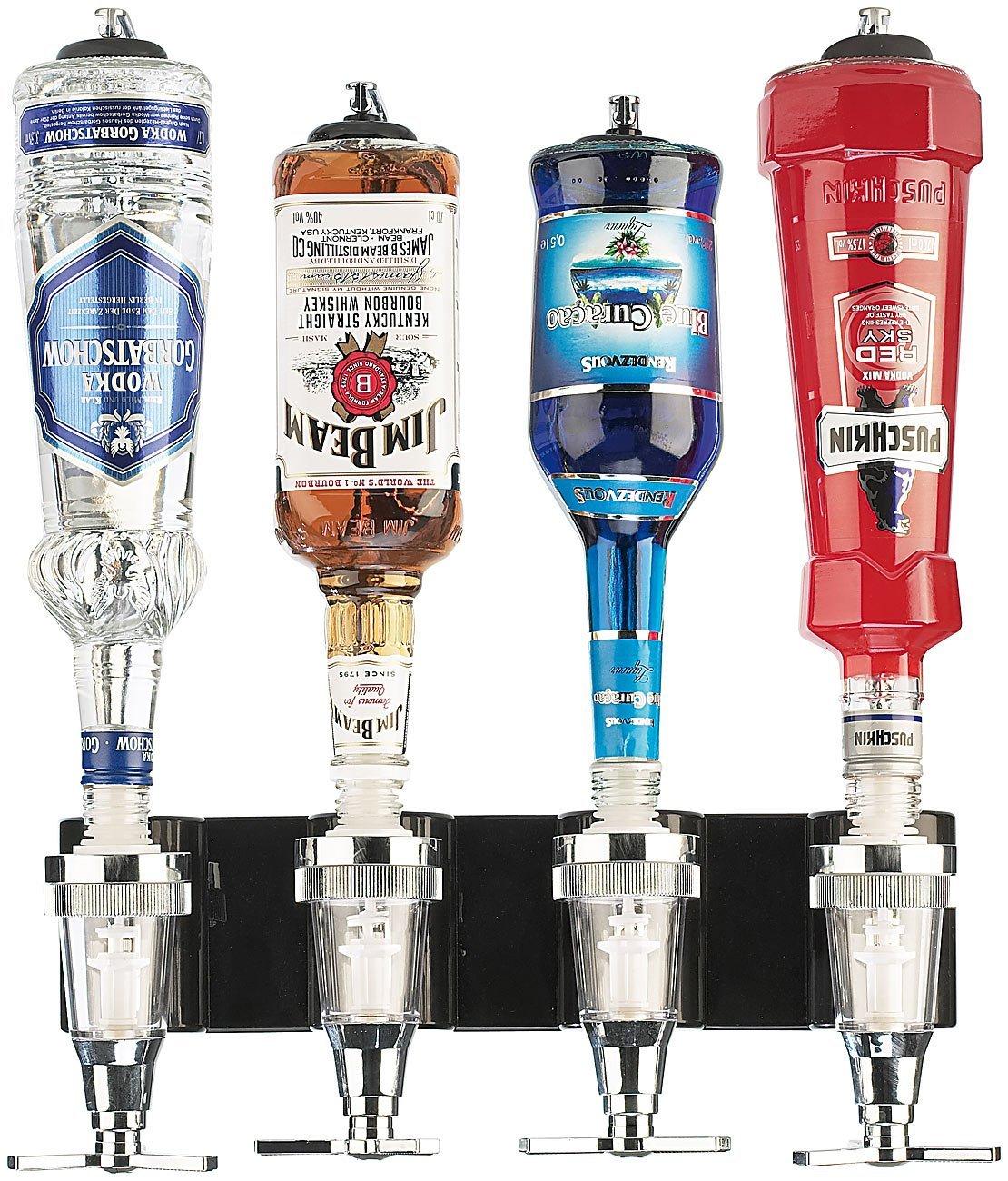 Bar Butler für die Wand - Flaschenhalter, Dosierer