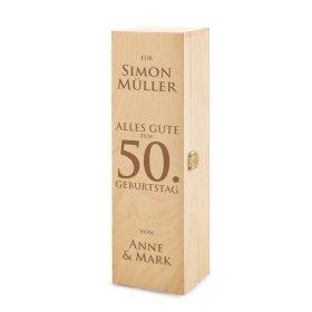 Weinkiste - Gravur zum Geburtstag - Personalisiert