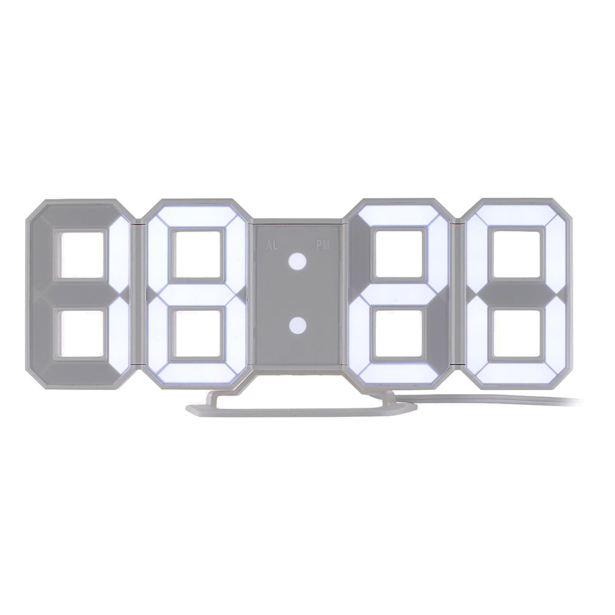 2-in-1 3D LED Digitaluhr mit Wecker