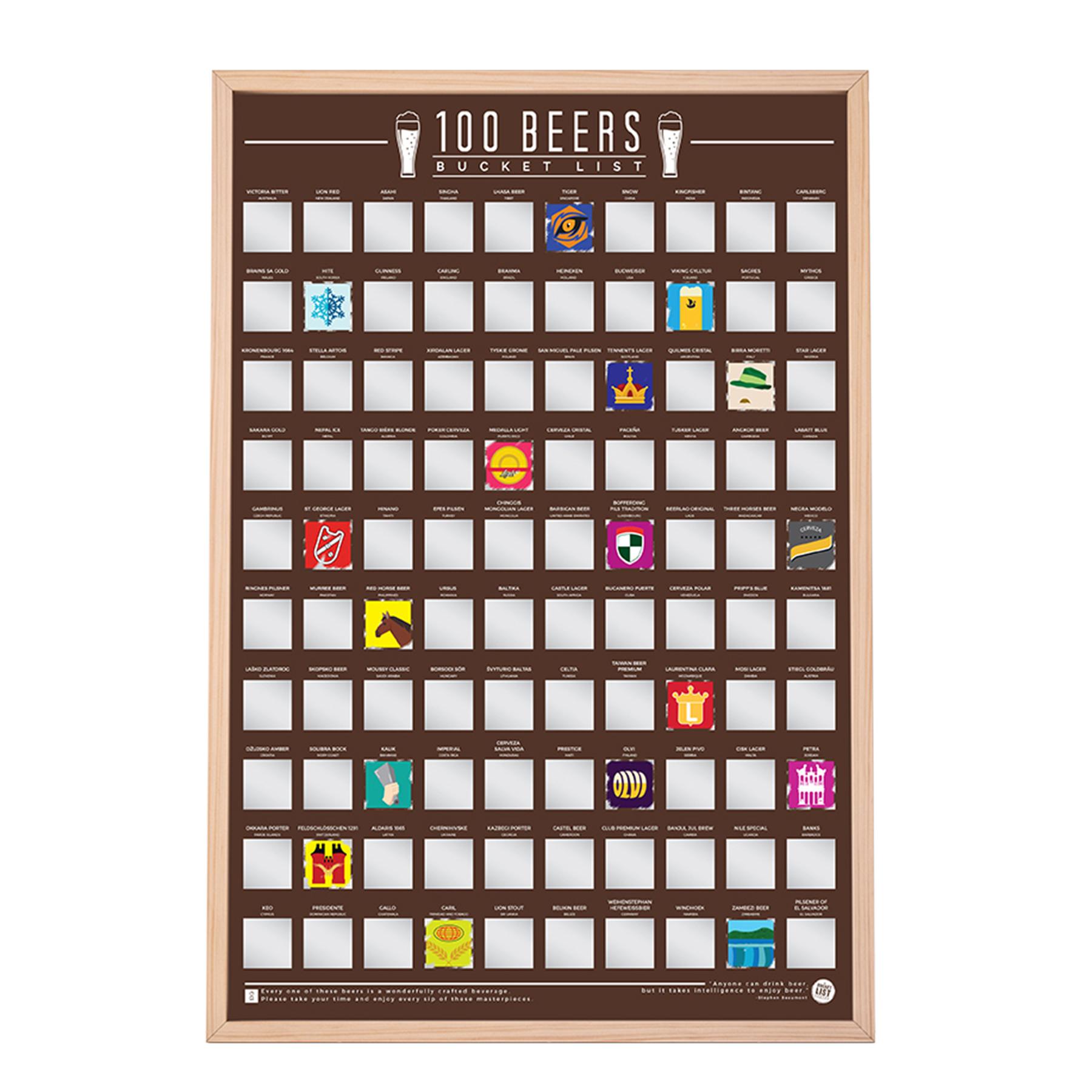 Rubbelkarte mit 100 internationalen Biersorten