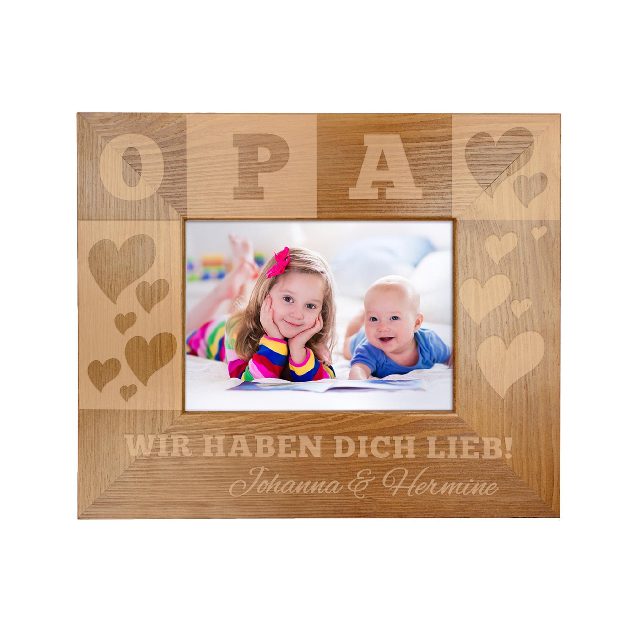 Bilderrahmen mit Gravur für Opa