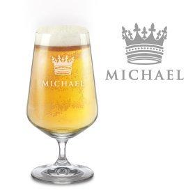 Pilsglas mit gravierter Krone - Personalisiert