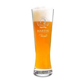 Weizenglas mit Gravur - Bierkenner - personalisiertes Weizenbierglas