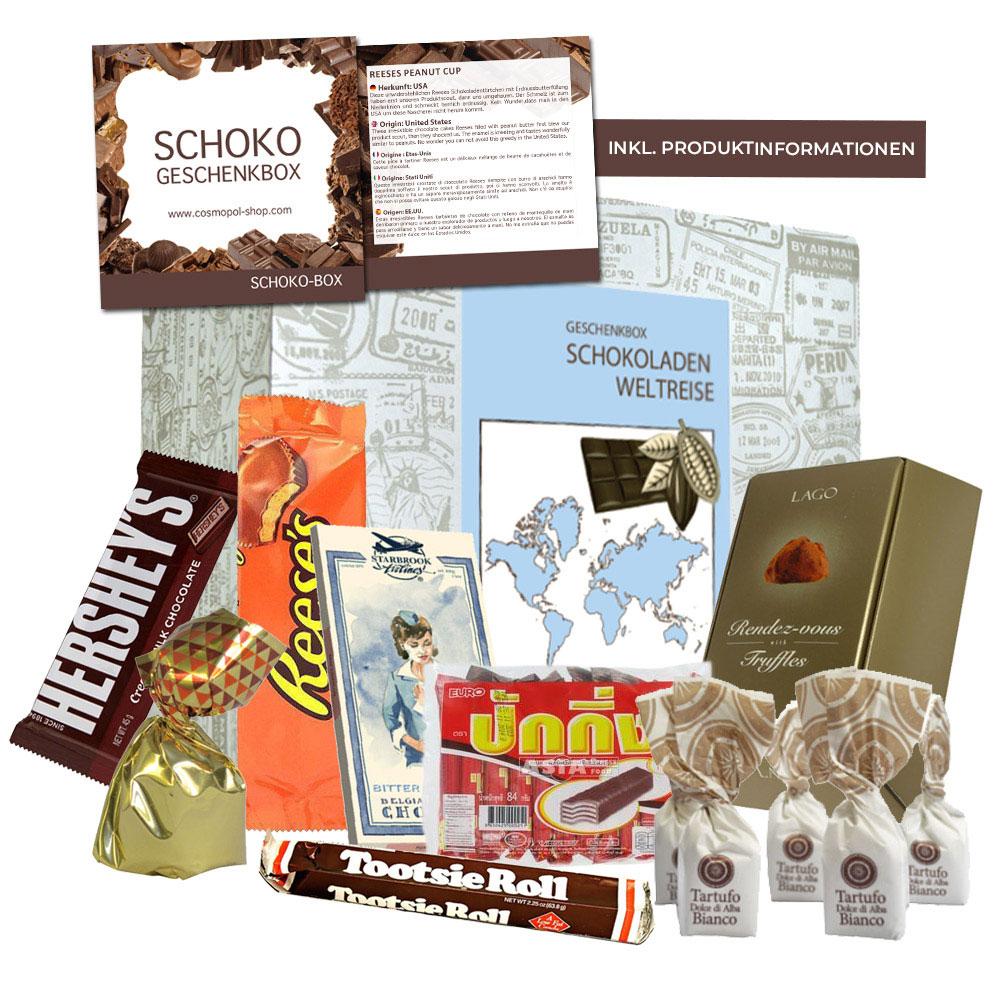 Schokoladen Weltreise - Geschenkbox