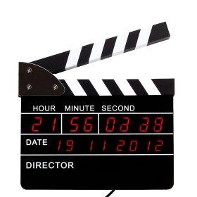 Regieklappe - Uhr mit Weckerfunktion