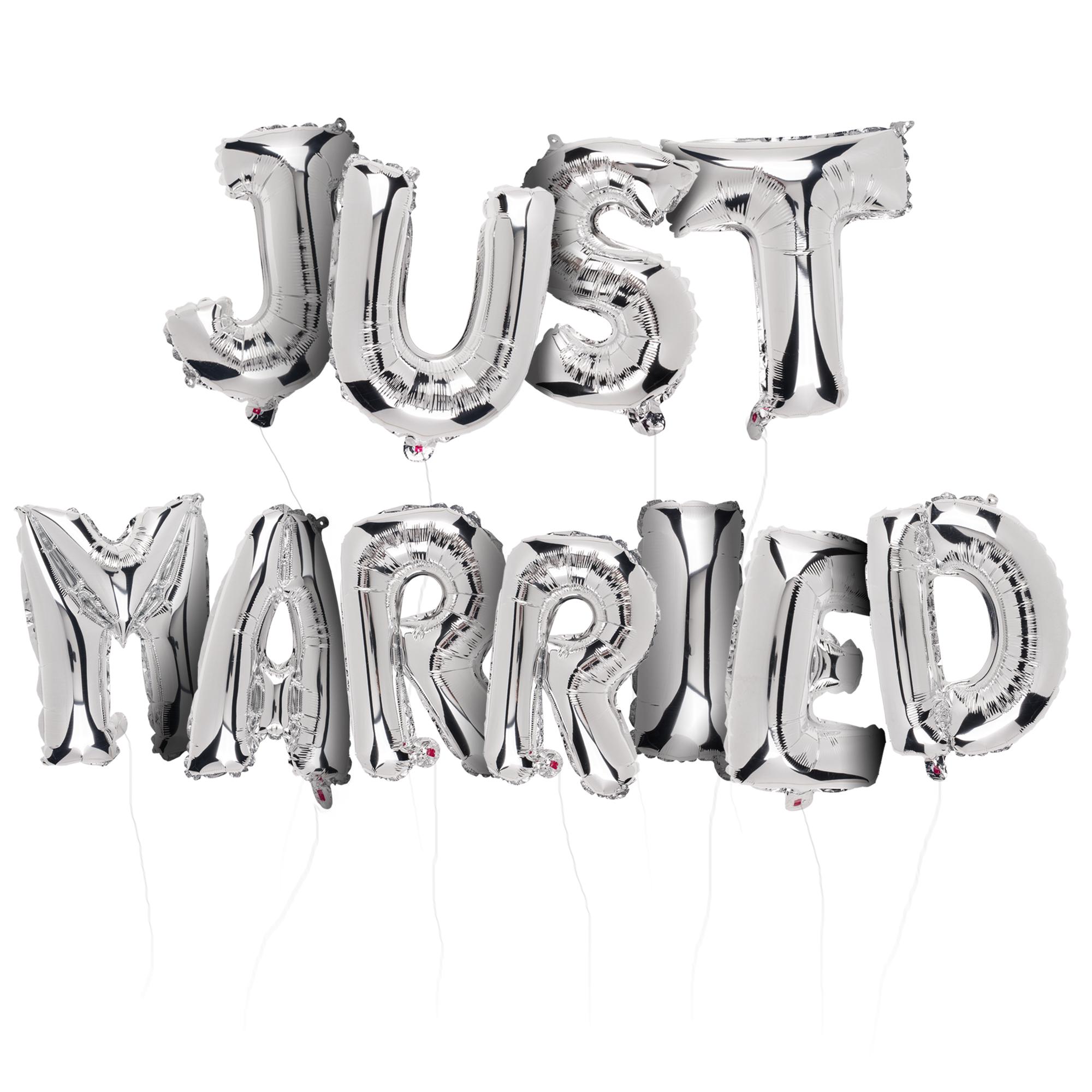 Motivballons - Schriftzug Just Married