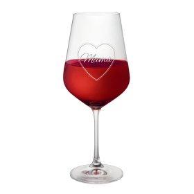 Weinglas mit Gravur - Mama im Herzen - Rotweinglas