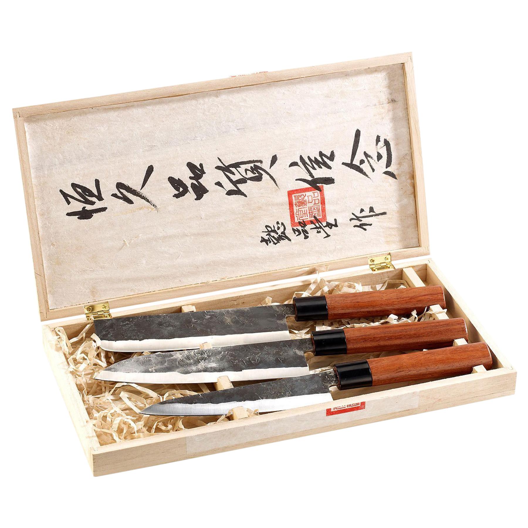Messer Set mit Echtholzgriffen