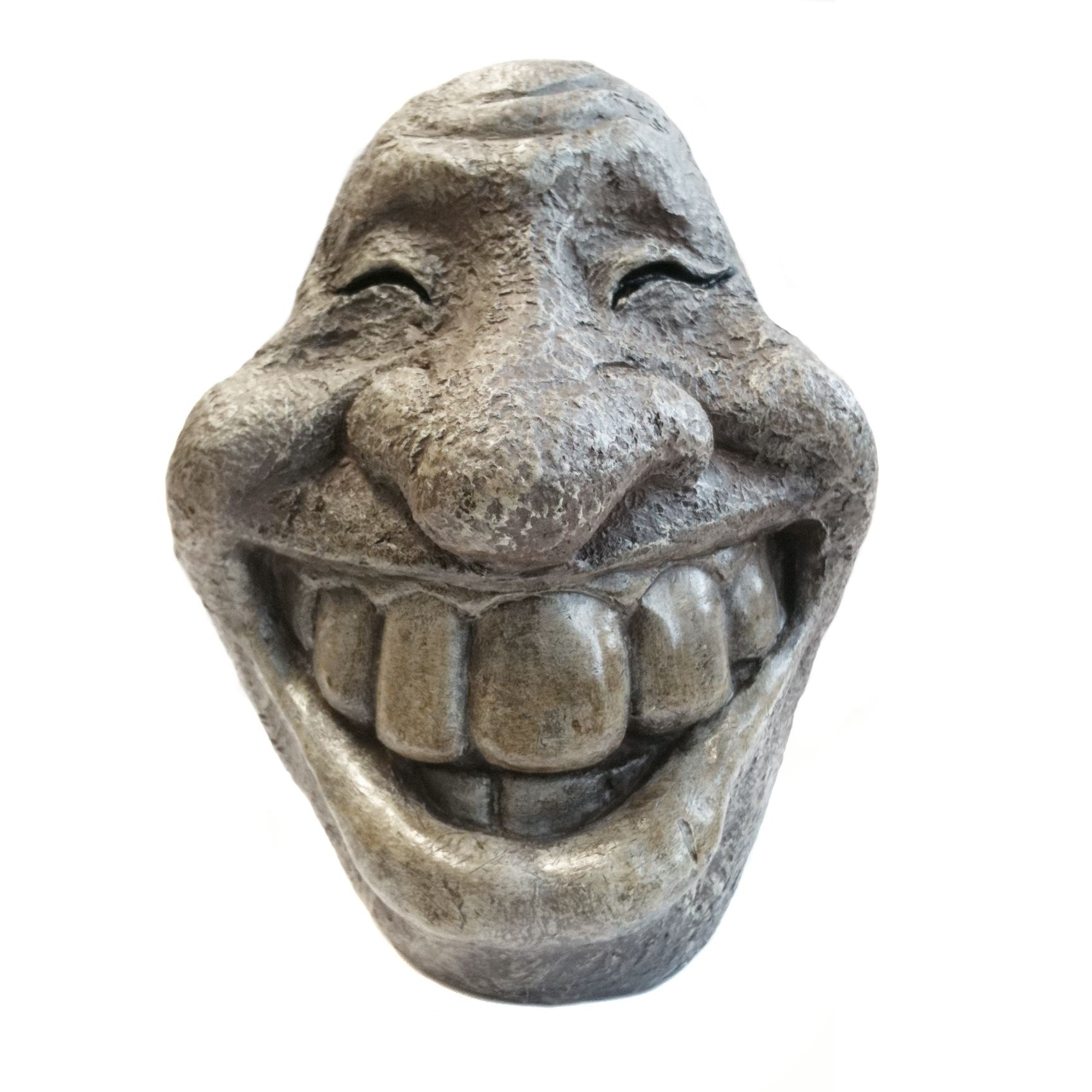 Smileyfigur aus Stein
