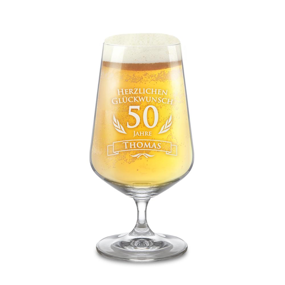 Bierglas zum Geburtstag - Personalisiert mit Namen
