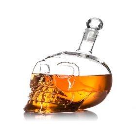 Totenkopf Karaffe für Whisky