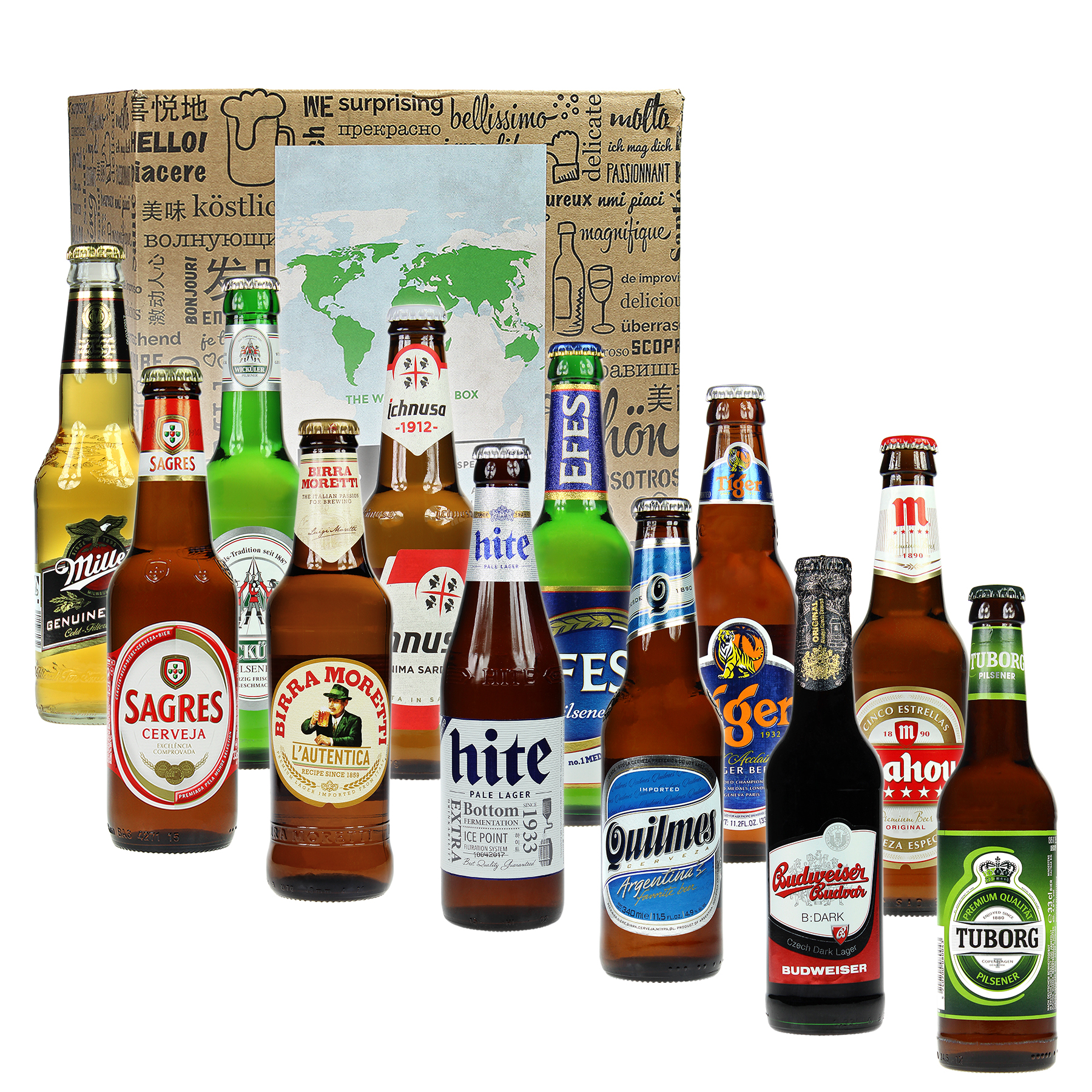 Geschenkbox Bier Weltreise 12-teilig