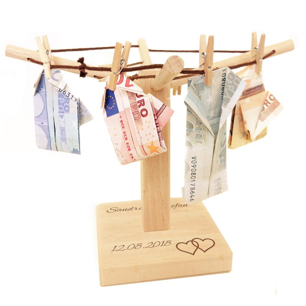 Geldwäschespinne zur Hochzeit - personalisiert