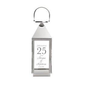 Laterne mit Gravur zur Silbernen Hochzeit - Personalisiert