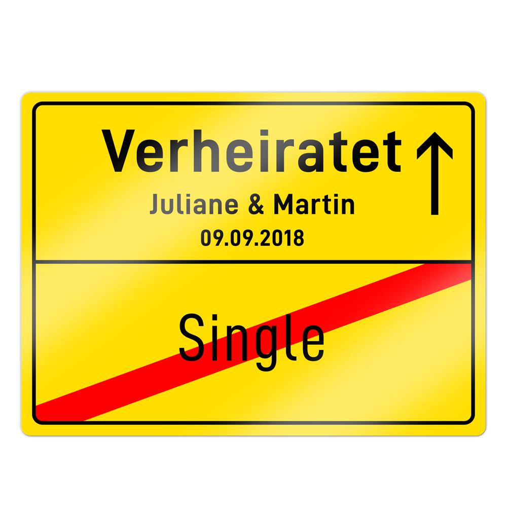 Ortsschild zur Hochzeit - Straßenschild personalisiert
