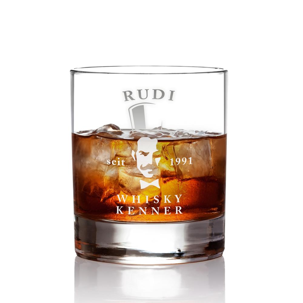 Whiskyglas mit Gravur - Gentleman - Personalisiert