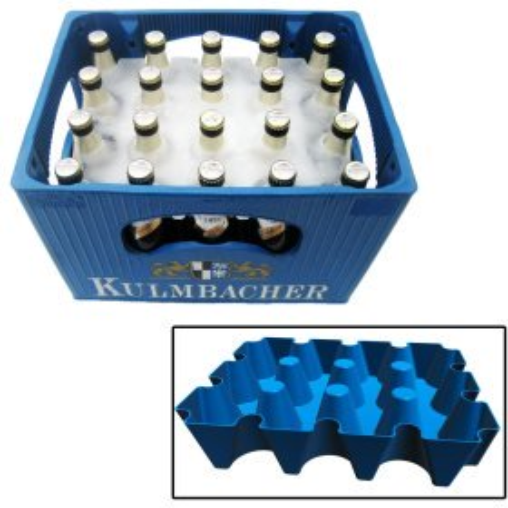 Bierkastenkühler Eisblock - 0,5 l Flaschen
