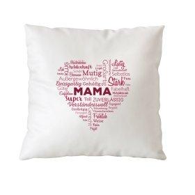 Kissen - Wortwolke Mama - Geschenkidee Muttertag