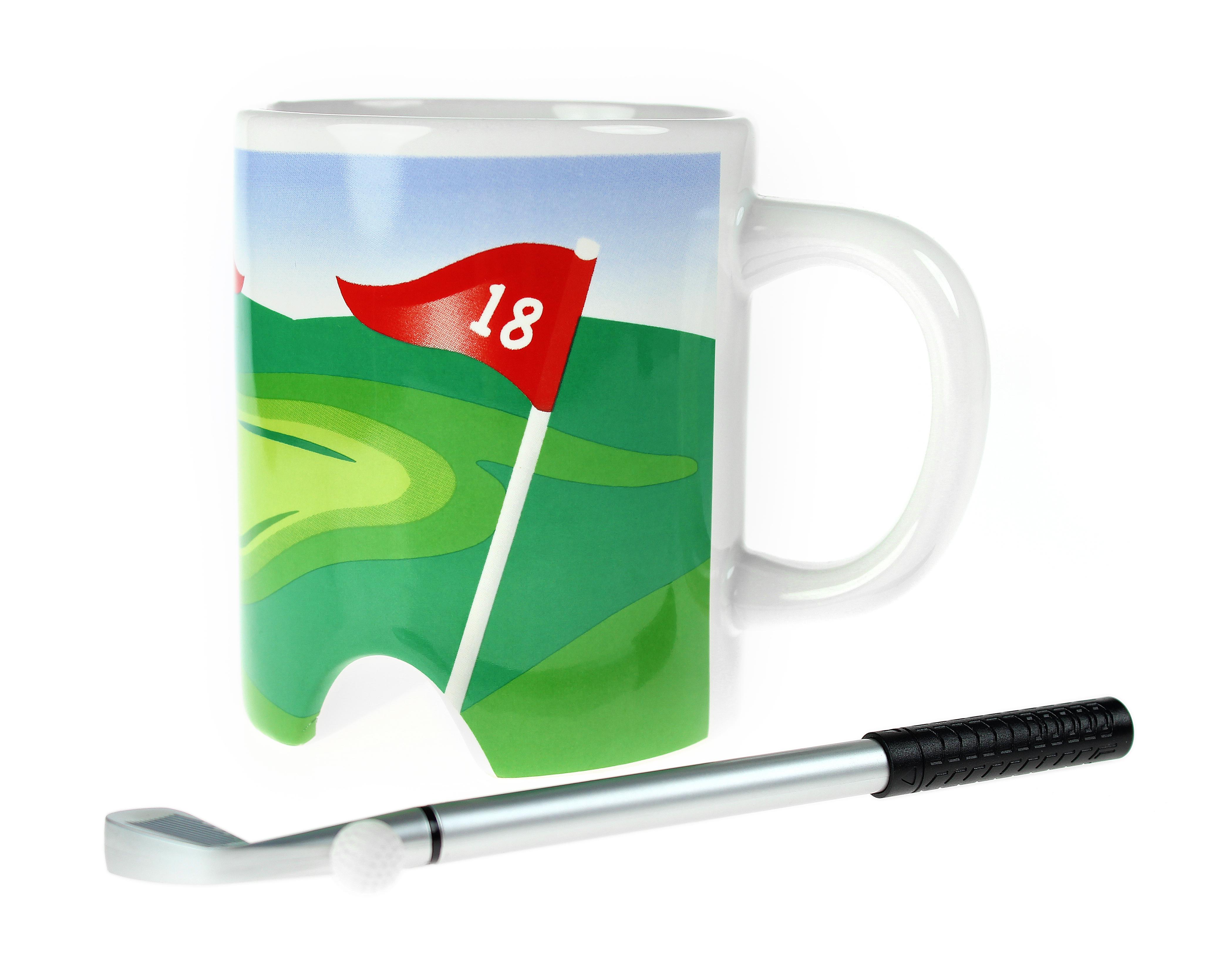 Golf Tasse mit Putter