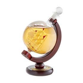 Whiskykaraffe - Globus Schiff - Namensplakette