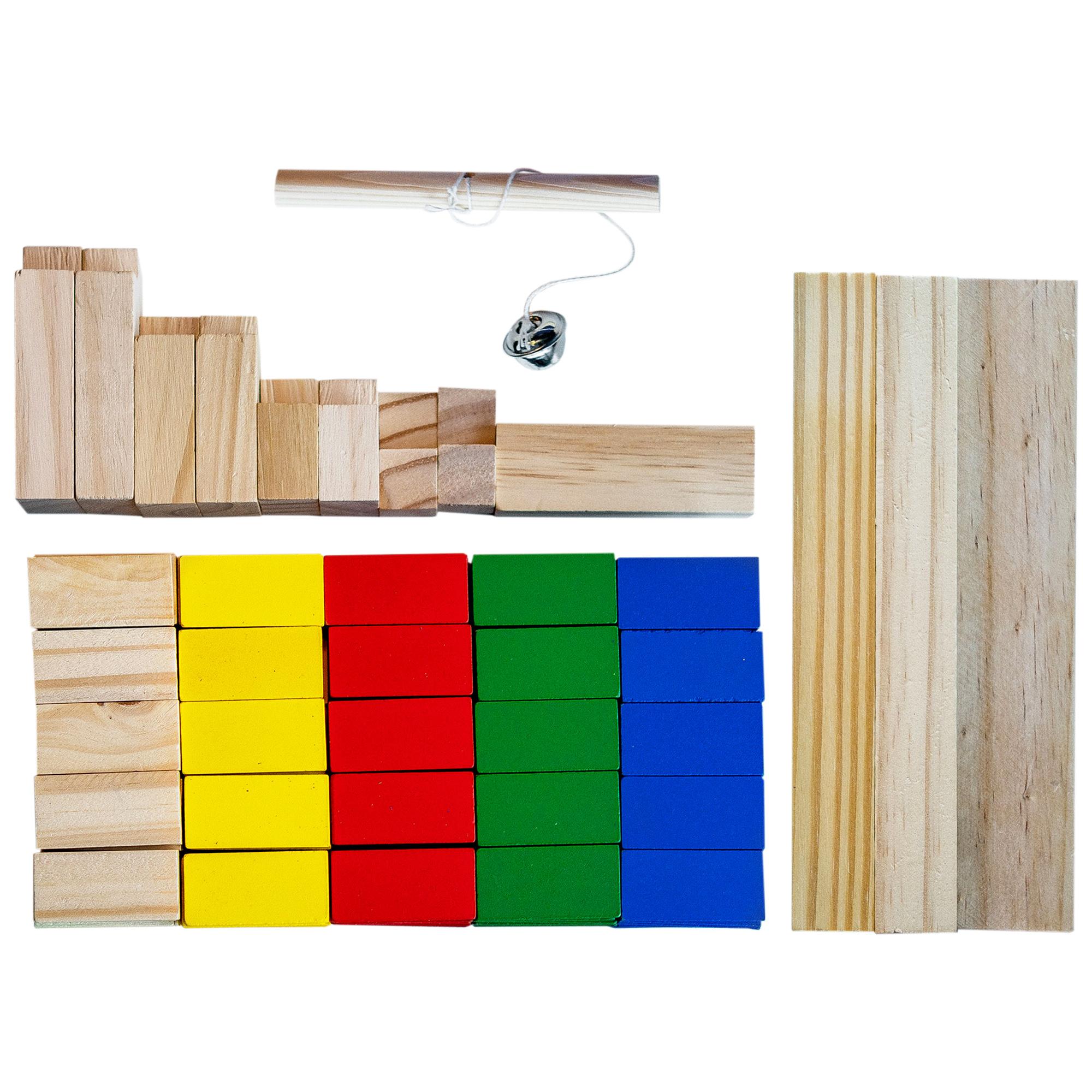 Holz Bausteine - 263 Stück