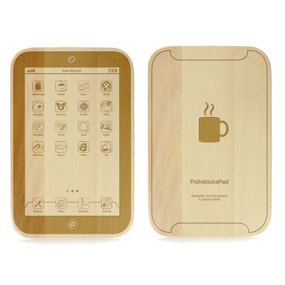 Frühstücksbrett im Tablet-Design - Frühstücks-Pad