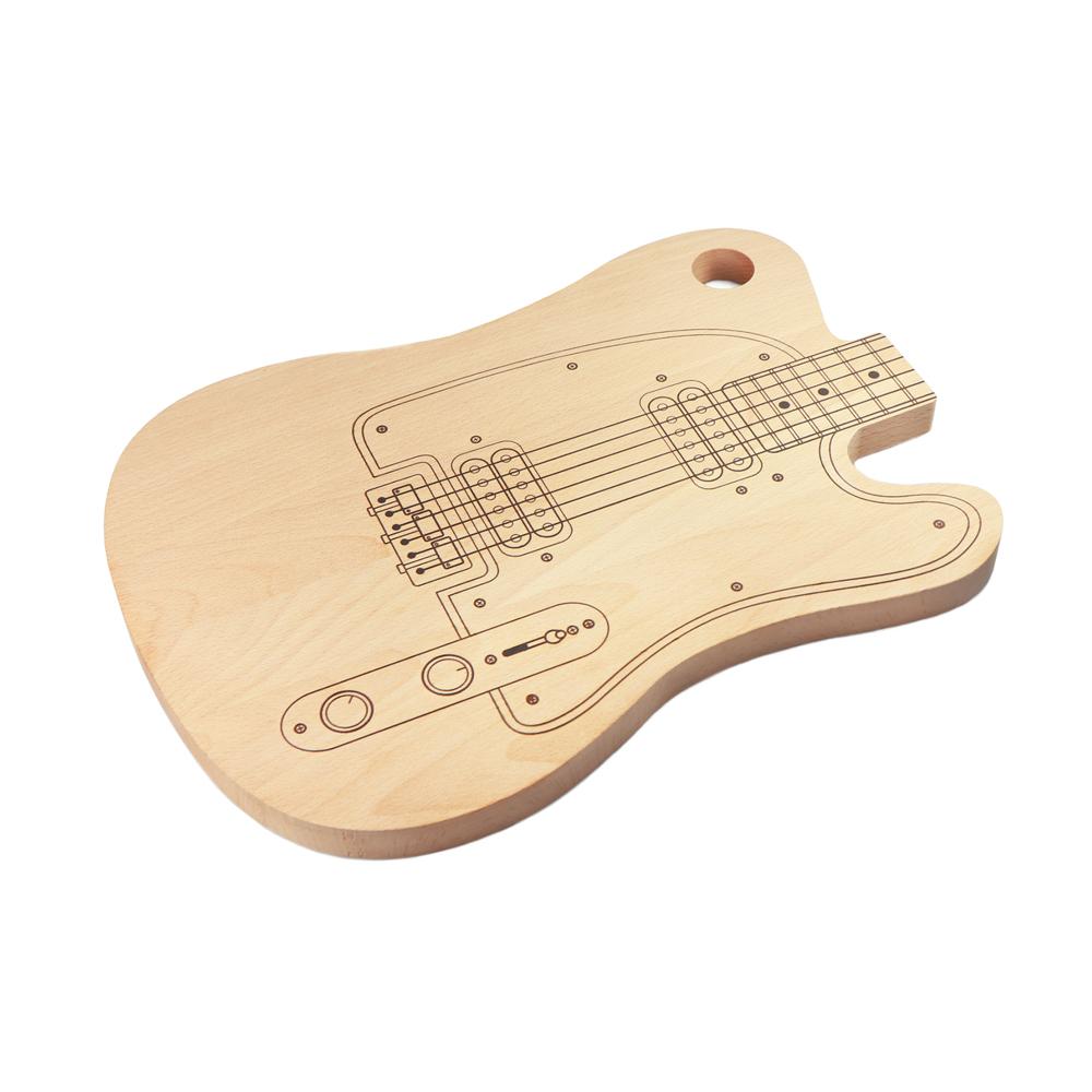 Schneidebrett Gitarre aus Holz