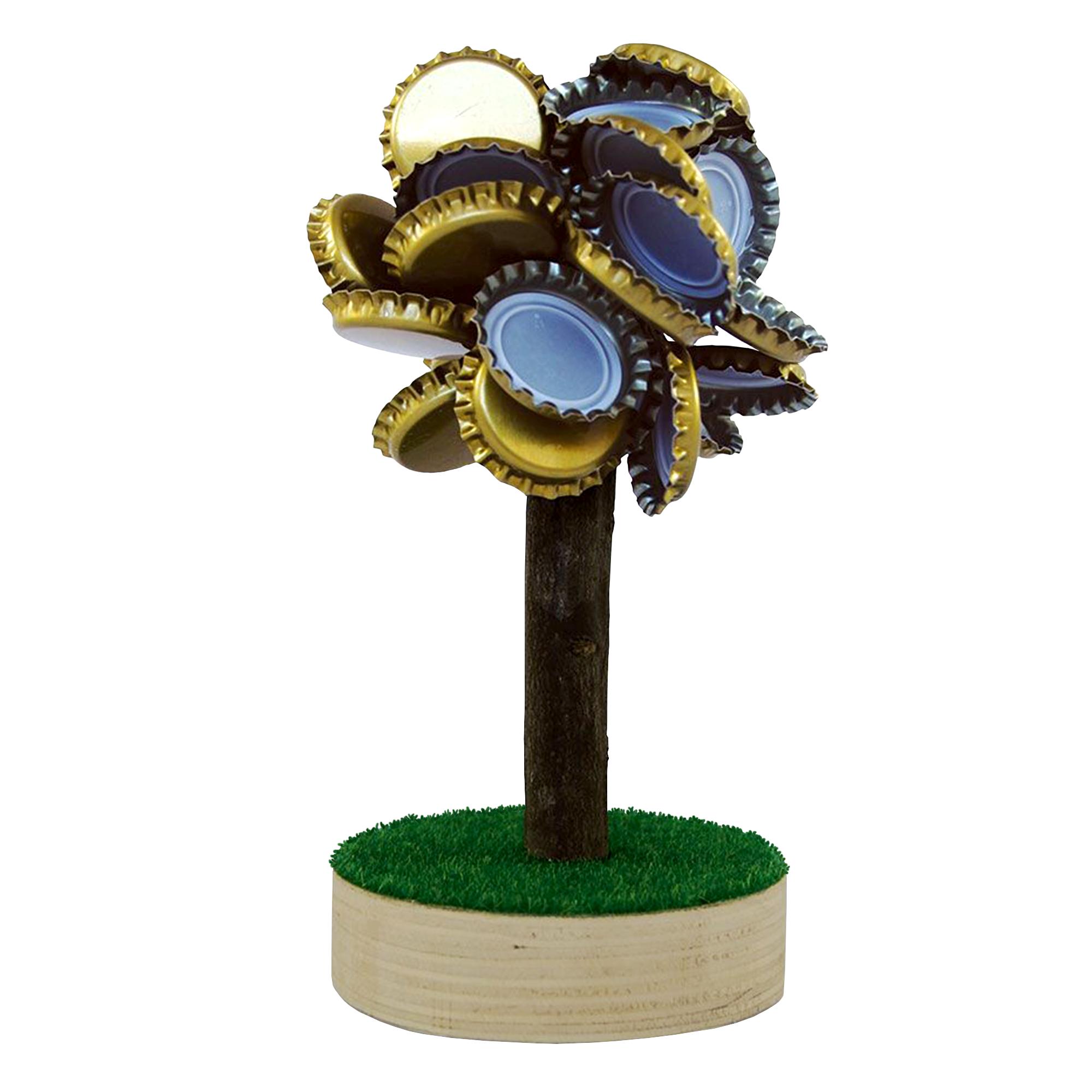 Bierdeckel Magnet - Baum aus Kronkorken