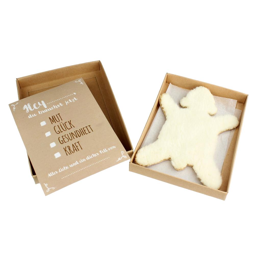 Dickes Fell - Eisbär - mit Geschenkbox