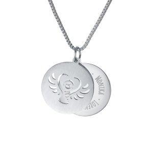 Kette mit Schutzengel Anhänger- Family - Silber