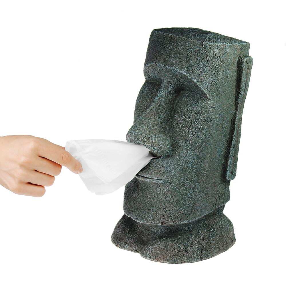 Taschentuchbox Halter Moai