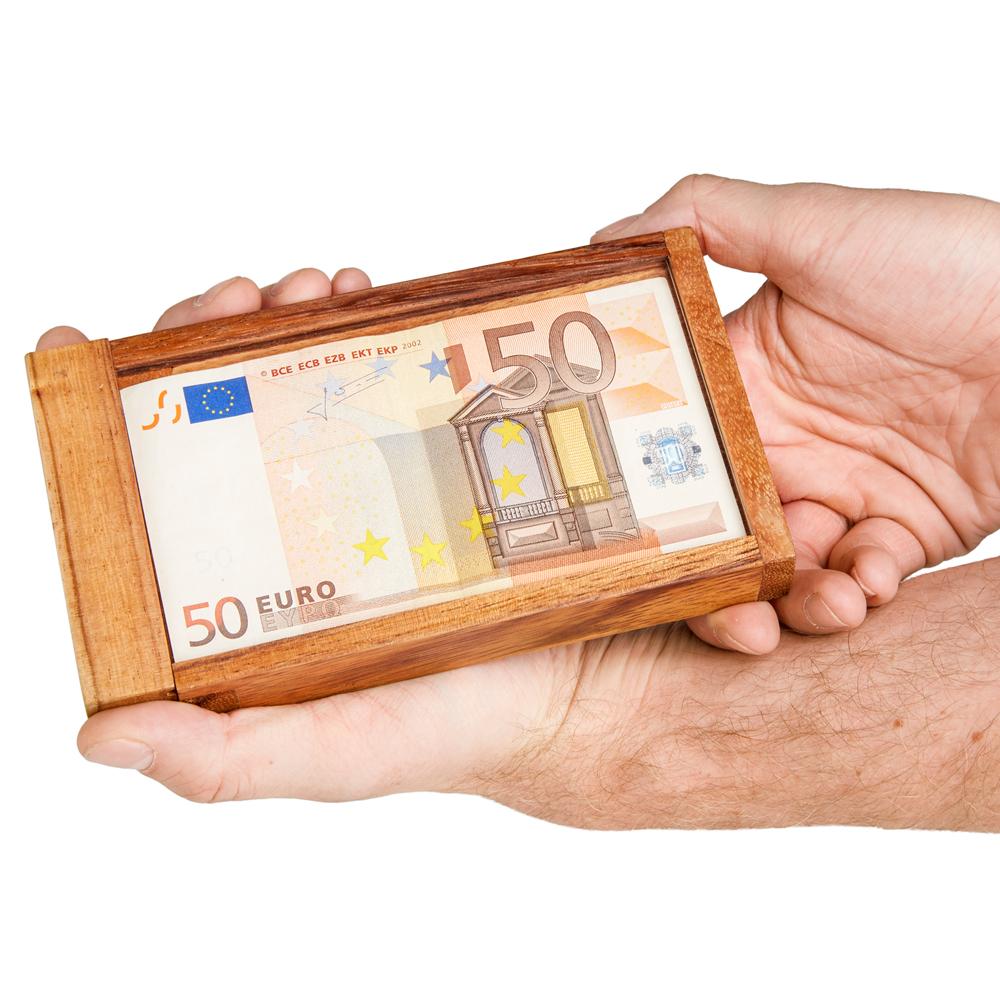 Magische Geldgeschenkbox mit persönlicher Gravur