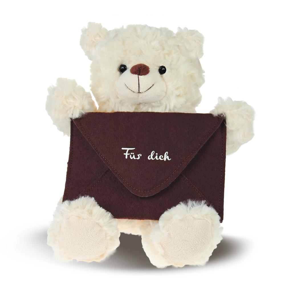 Teddybär Bote - brauner Briefumschlag