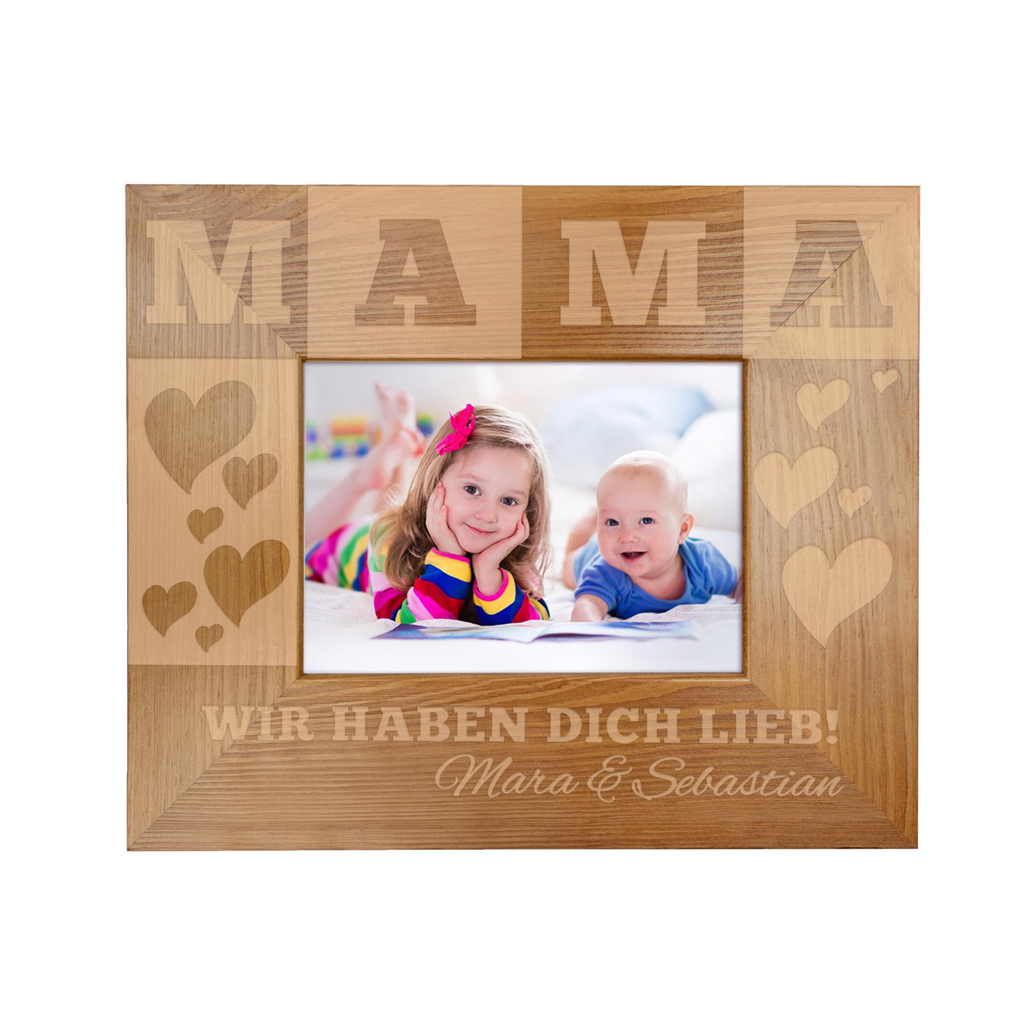 Bilderrahmen mit Gravur für Mama